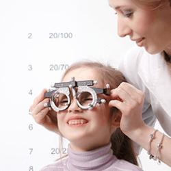 Lazy eye testing