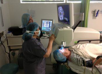 Laser Cataract Surgery in Progress