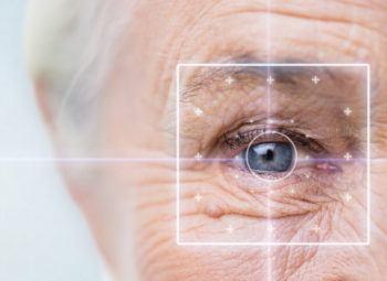 Close-up of elderly eye.