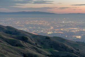 View of Fremont and Silicon Valley from the Mission Peak Regional Preserve