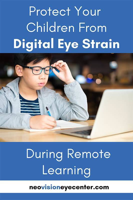 protect your child from digital eye strain during remote learning