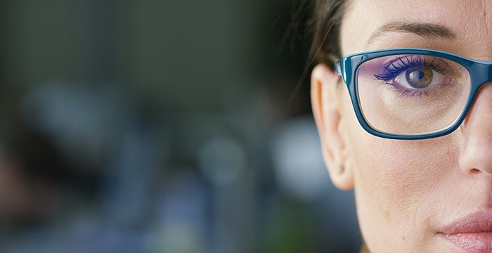 young adult women in eyeglasses